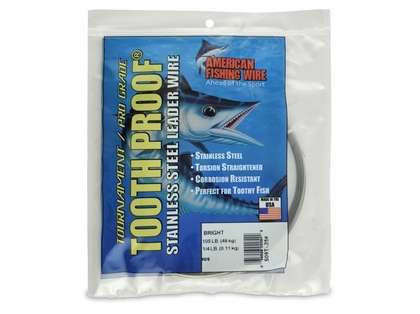 American Fishing Wire Tooth Proof Single Strand Leader Wire S09T-.25 9