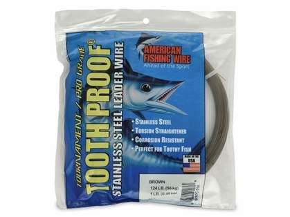 American Fishing Wire Toothproof Stainless Steel Leader Wire - 1lb Coil