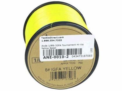 Ande IGFA Tournament Hi-Vis Yellow