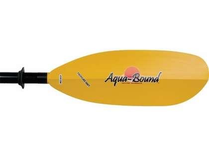 Aqua-Bound Sting Ray Kayak Paddle Yellow Abx Blade Blk Aluminum Shaft