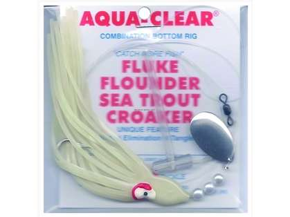 Aqua Clear Fluke/Flounder/Trout/Croaker Single Leader Rig