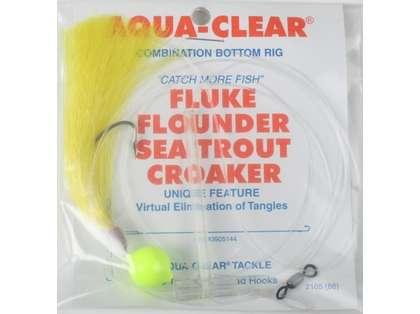 Aqua Clear FW-4YFYH Fluke/Flounder/Trout/Croaker Single Leader Rig