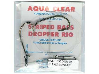 Aqua-Clear ST-6 Striped Bass Dropper/Tandem Rig
