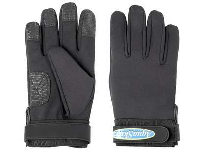AquaSkinz Black Thunder Gloves - Black