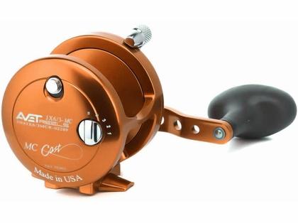 Avet JX 6/3 MC 2-Speed Lever Drag Casting Reels - Orange
