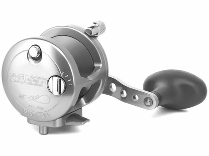 Avet MXJ 6/4 MC 2-Speed Lever Drag Casting Reel Left Hand- Silver