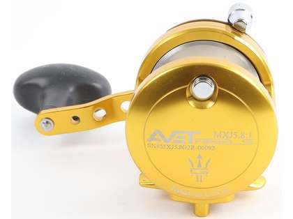 Avet MXJ G2 5.8 Single Speed Reel - Gold/Silver Spool (Blemished)
