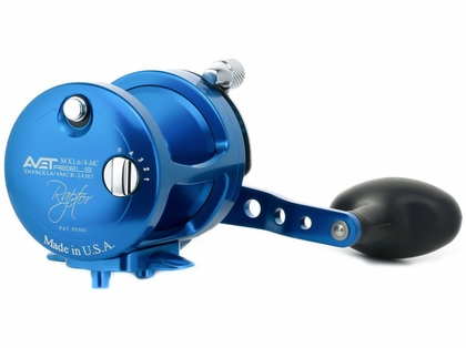 Avet MXL 6/4 Raptor 2-Speed Lever Drag Casting Reel Blue