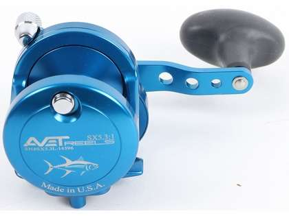 Avet SX 5.3 LH Single Speed Left Hand Reel - Blue (Blemished)