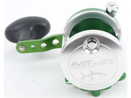 Avet SX 5.3 Single Speed Reel - Silver/Green (Blemished)