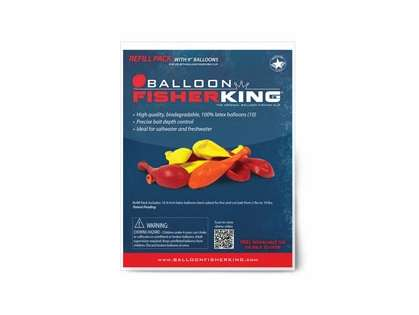 Balloon Fisher King Refill Pack - 10 9in Balloons