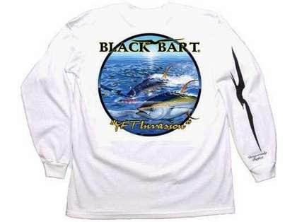 Bart's Yellowfin Tuna Long Sleeve T-Shirts White