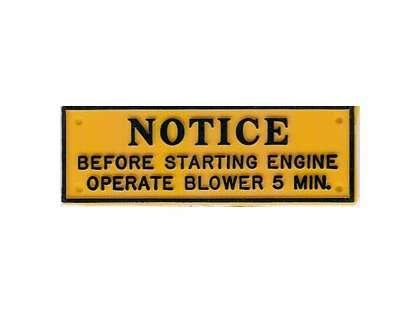 Bernard Caution Open Blower Plaque