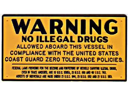Bernard Drug Warning Plaque