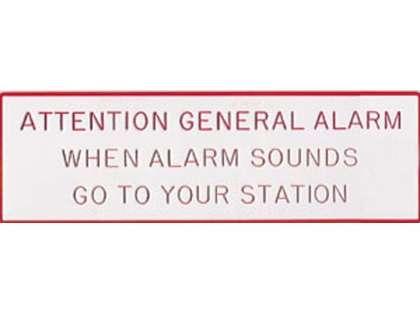 Bernard General Alarm Plaque
