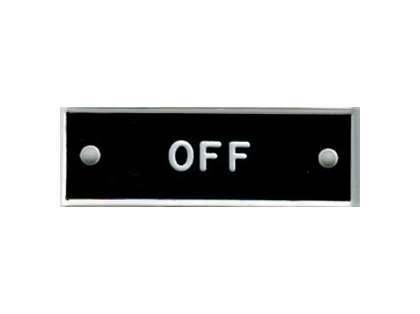Bernard IP015 'Off' 1.5in Identi-Plate