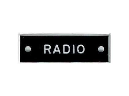 Bernard IP018 'Radio' 1.5in Identi-Plate
