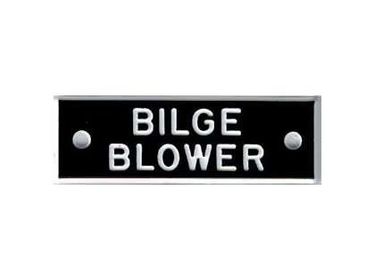 Bernard IP036 'Bilge Blower' 1.5in Identi-Plate