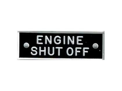 Bernard IP048 'Engine Shut Off' 1.5in Identi-Plate