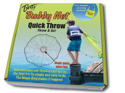 Betts Buddy Quick Throw Nets - 3-1/2ft