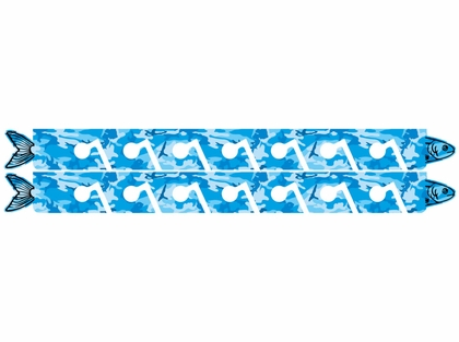 Big Daddy Fishing Rod Racks - 7 Rod Rack - Blue Camo