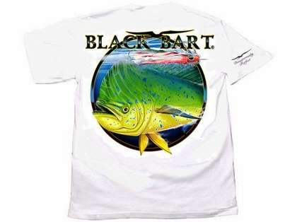 Black Bart Bull Dolphin Short Sleeve T-Shirts White