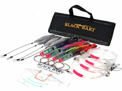 Black Bart Lures Wahoo Rigged Light Tackle Trolling Pack Double hooks