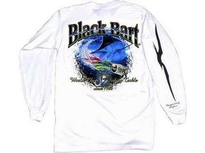 Black Bart Marlin Lure Long Sleeve T-Shirt White