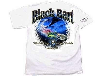 Black Bart Marlin Lure Short Sleeve T-Shirt White