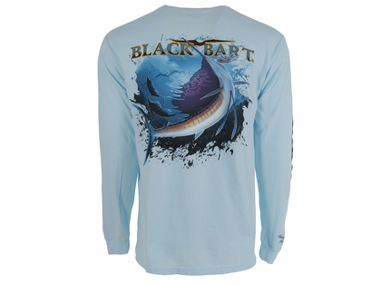 Black Bart Sailfish Long Sleeve T-Shirts White