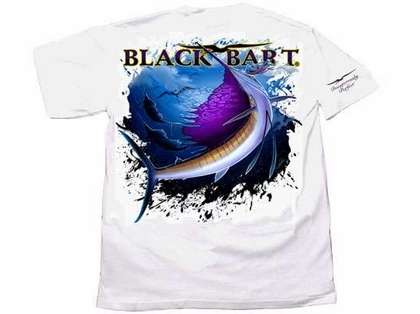 Black Bart Sailfish Short Sleeve T-Shirts