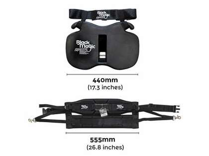 Black Magic Tackle Equalizer Small Fighting Belt/Harness Kit in Bag