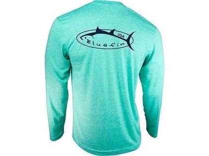 Bluefin USA Logo Design Tech Tee Aqua