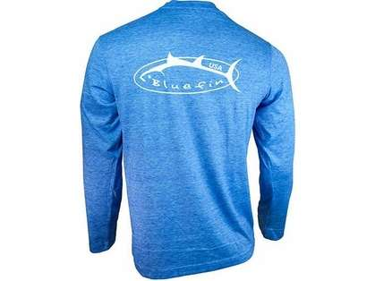 Bluefin USA Logo Design Tech Tee Light Blue