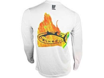 Bluefin USA Solar Sailfish Polycotton Long Sleeve Tee White