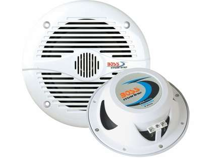 Boss Audio MR50 5.25in Round White Marine Speakers (Pair)