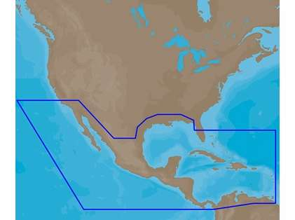 C-MAP 4D Electronic Marine Charts - MX, Central America, & Caribbean