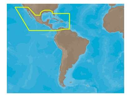 C-Map MAX Electronic Marine Charts - Central America & The Caribbean