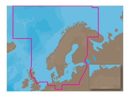 C-Map MAX Electronic Marine Charts - Europe North/Central