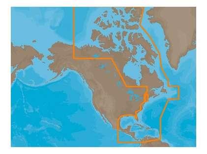 C-Map NA-M033 C-Card Format - Atlantic Coast Gulf Caribbean
