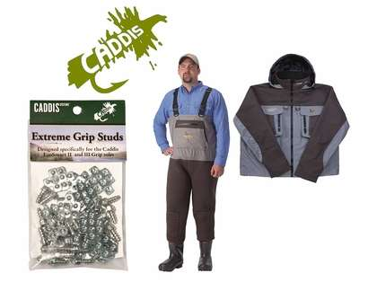 Caddis Northern Guide Waders/Jacket/Grip Studs Kit Bib 10 Jacket Sz L