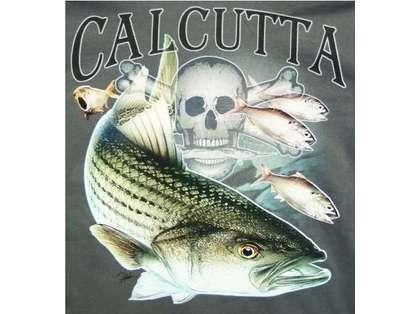 Calcutta Fade Logo Striper Tee