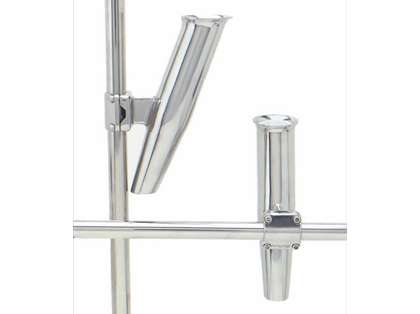 C.E. Smith 53660A 2 Way Clamp On Mid Mount Rod Holder Silver
