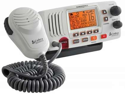 Cobra MR F57W Fixed Mount Class D VHF Radio - White
