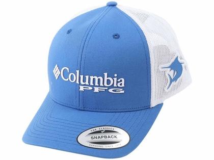 Columbia PFG Marlin Mesh Snap Back Ball Cap - Vivid Blue
