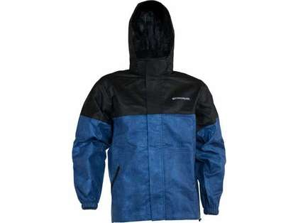Compass360 AT23110-1021 AdvantageTek Rain Parka - Black & Blue