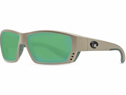 Costa Del Mar Tuna Alley Sunglasses - Sand/Green Mirror 580G