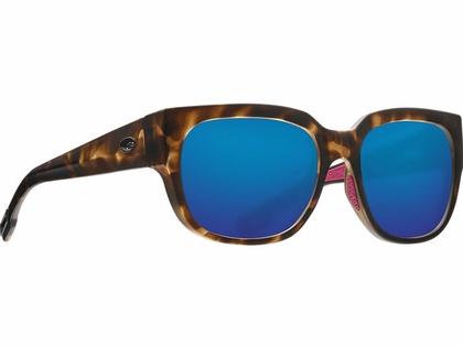 Costa Waterwoman Sunglasses - Matte Shadow Tortoise/Blue Mirror