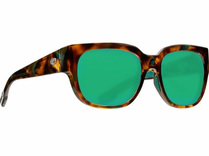 Costa Waterwoman Sunglasses - Shiny Palm Tortoise/Green Mirror