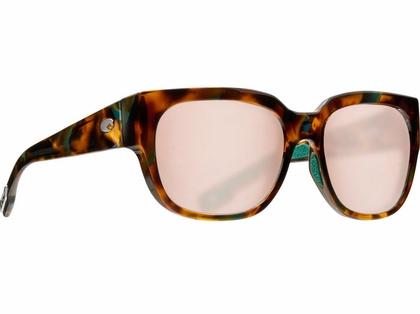 Costa Waterwoman Sunglasses - Shiny Palm Tortoise/Copper Silver Mirror